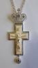 Крест кабинетный с эмалью