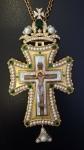 Крест наперсный с жемчугом