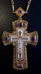 Крест наперсный с росписью