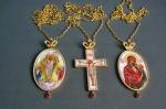 Комплект крест и две панагии