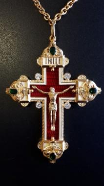 Крест по мотивам Фаберже